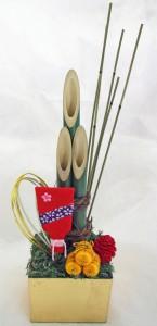 お正月の竹飾り ¥2,000 (高さ25Cm)