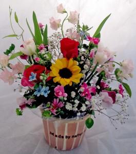春の花生花アレンジ¥2,700