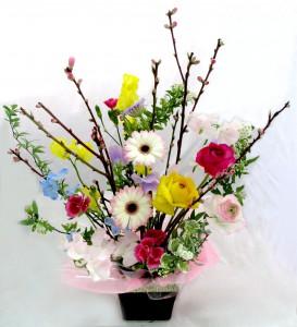 生花桃の花アレンジ¥2,700