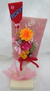 シルクフラワー羽子板飾り W10Cm×H23Cm ¥1500